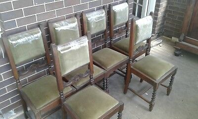Antique Jacobean style dining chairs (Set of 6)