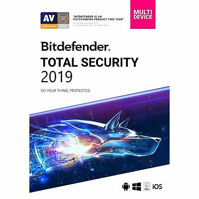 Bitdefender Total Security 19 - Multi device - 6 Months - 5 Devices GLOBAL Key