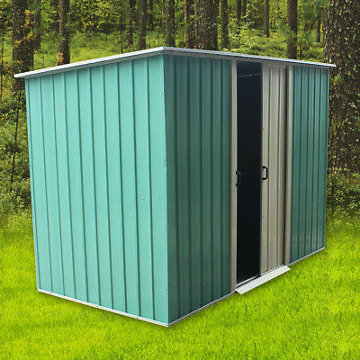 6''X4''Garden Shed Metal Large Flat Roof Outdoor Storage without Foundation