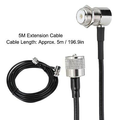 PL259 Coaxial Cable Antenna Extension Cable Connector For BaoFeng/ Vertex/ TYT