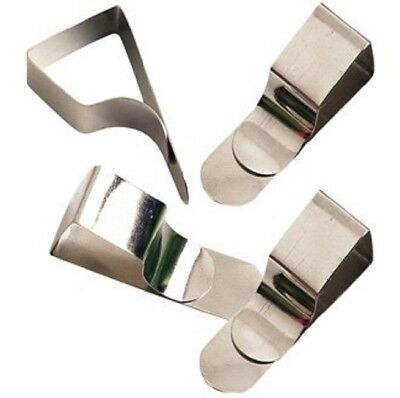 100 x Drawing Board Clips Paper Holder Steel Draughtsman Clamp Chrome Plate