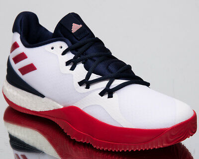 new style 50620 5a586 adidas Crazylight Boost 2018 Men s New White Red Navy Basketball Sneakers  AC7431