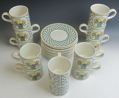 Lot of 12 Villeroy & Boch China BASKET Cup & Saucer Set(s) Multi Lots Avail VG
