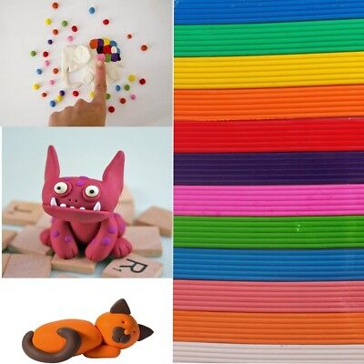 12Pc Assorted Colour MODELLING CLAY STRIPS SET Plasticine Kids Arts/Craft/Hobby