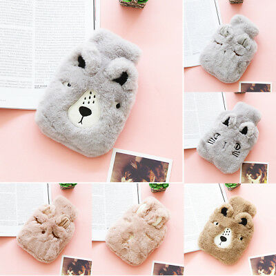 Children Winter Cute Hot-Water Bottle With Cover PVC Resuable Hand Warmer Useful