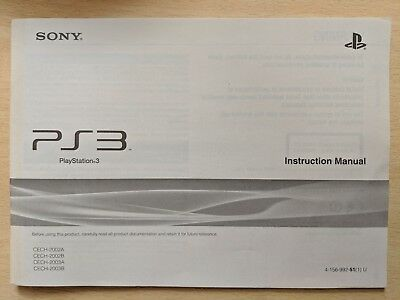 Sony Playstation 3 console instruction manual genuine original