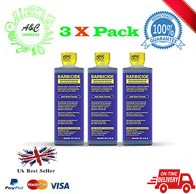 3 X Barbicide Disinfectant Concntrate Solution Germicide Anti-Rust F0rmula 473ml