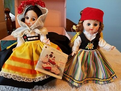 2 VINTAGE  DOLLs one Madame Alexander and one possibly?.