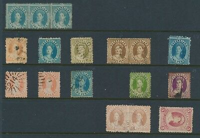 Queensland Stamps 1861-1880 Qv Chalon Heads Selection To 5/- & 10/- Vf Clean Lot