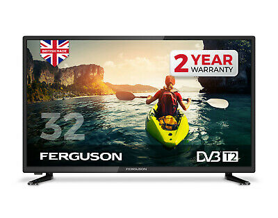 FERGUSON 32 INCH LED TV FREEVIEW HD 3 X HDMI & USB 1080i  BRAND NEW MADE IN UK