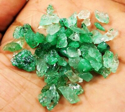 56.80 Cts BEAUTIFUL GREEN COLOMBIAN NATURAL EMERALD ROUGH LOT. GS1  h
