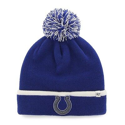 Adult  47 Brand Indianapolis Colts Baraka Knit Hat Cap Beanie - One Size NWT fa2be110b41c