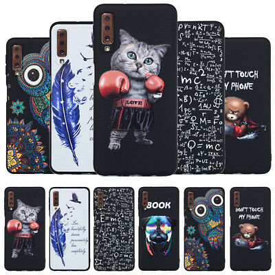 For Samsung Galaxy A9 A7 A6 2018 Slim Silicone Soft Matte Painted TPU Case Cover
