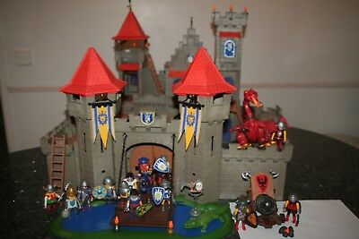 3268 Grand Chateau Fort Royal Playmobil 3327 Dragon Rouge 3320Canon  13Personnes