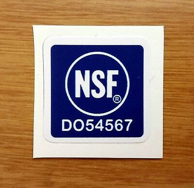 4 Nsf Vinyl Stickers Logo Electrical Space Safety Food Water Building Medical