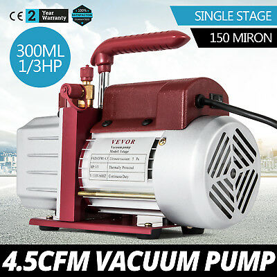 4.5CFM Single-Stage Rotary Vacuum Pump Wine Degassing Food processing 12.8pounds