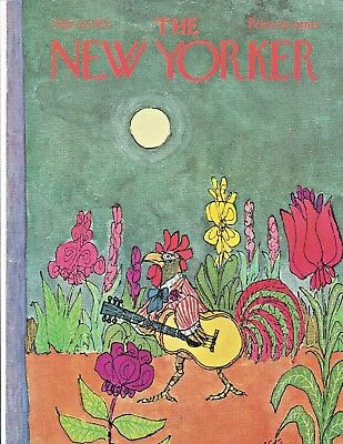 COVER ONLY The New Yorker Magazine ~STEIG ~ July 29 1972 ~ Rooster Guitar Garden