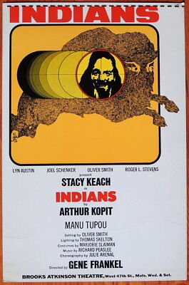 TRITON offers Original 1969 sample Broadway play poster INDIANS Stacy Keach