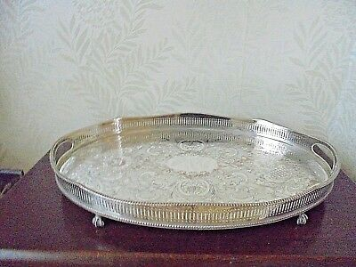 Silver Plated on Copper Serpentine Twin Handled Tray