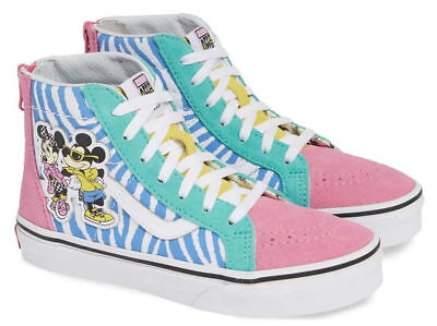 VANS X DISNEY Sk8 Hi Zip 80's Mickey Mouse VN0A3276UJE New W