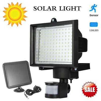 120LED Solar Powered PIR Motion Sensor Outdoor Garden Light Security Flood Lamp