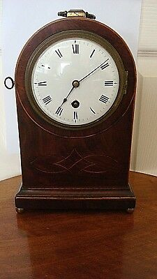 Vintage Geo Iii Miniature Mahogany Cased Fusee Bracket Clock J Plumley London