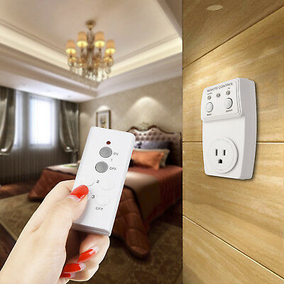 Wireless Remote Control Outlet Switch Power 110V US Plug In for lights LED bulbs