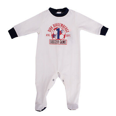 DIRK BIKKEMBERGS Babygrow Size 6M Coated Front Long Sleeve Stand-Up Collar