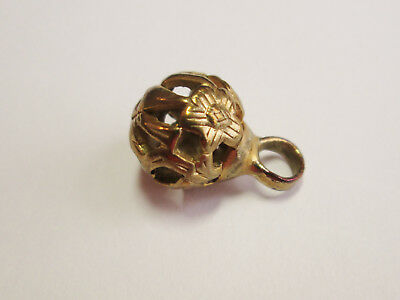 Scarce Peasant Pierced Floral Variant CHINESE Imitation Thread Knot Button # 4