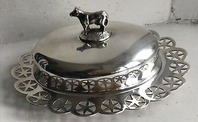 Vintage Liberty & Co Figural Silver Plated Butter Dish