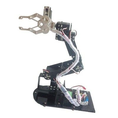 Black 6-DoF Robot Arm Clamp Gripper Model Manipulator DIY KIT -Servos