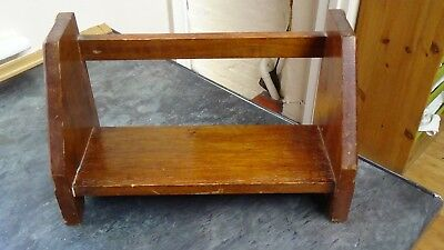 Old Wooden Book Stand Rack Office Kitchen Dining Room