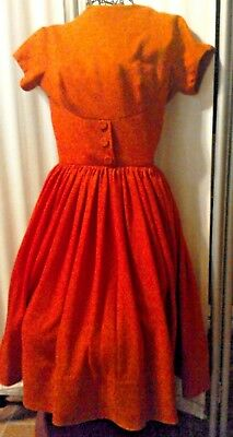 Vintage 1950s? Pixie of California Red Knit Wiggle Day Bombshell Dress Small GUC