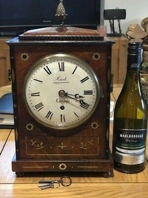 Antique Regency Fusee Bracket/Mantel Clock