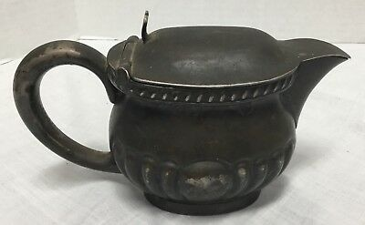 Reed & Barton Silver Soldered Navy Officer's Wardrobe Creamer with Hinged Lid