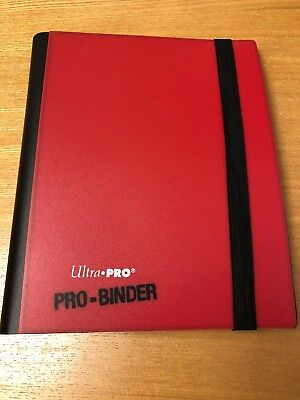 Ultra Pro 160 Card Red White A5 Pro-Binder Magic:The Gathering MTG M:TG