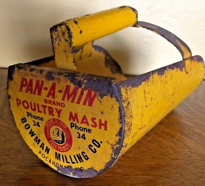 Advertising Chicken Poultry Mash Feed Farm Scoop Dr Hess Pan-A-Min Pocahontas MO