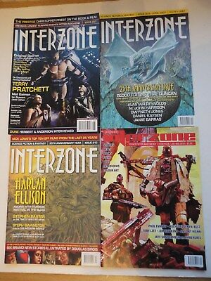 4  x  INTERZONE # 207, 209, 210 & 229 from 2006,2007 & 2010 - SF&F