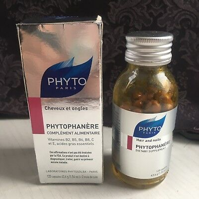 Phyto Paris Phytophanere Hair and Nails Supplement 120 Caps *DAMAGED*