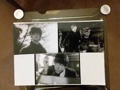 Beatles 3 photos,1960s, very Rare, out takes from A Hard Days Night Film.