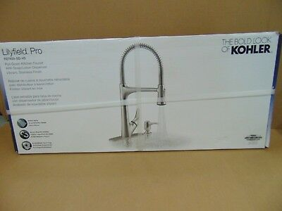 Kohler Lilyfield Vibrant Stainless 1-Handle Pull-Down Kitchen Faucet R27459-SD-V