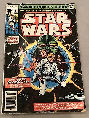Lot Of Star Wars Marvel Comics #1 #9 #66 First Issue Reprint 1977