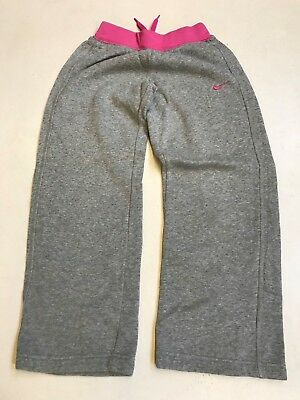NIKE Ladies Tracksuit Bottoms in Grey/Pink Size S Small (619)