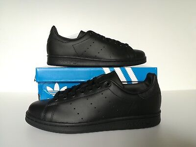 online store cd2a8 6f952 Adidas Stan Smith Black Men s Trainers Sizes 8   9 UK M20327