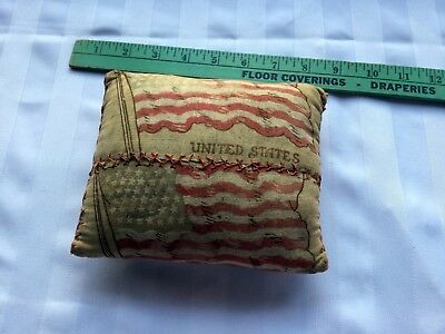 Very Early Pin Cushion With A 41 Star Flag Design