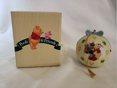 Disney, Pooh & Friends Porcelain Christmas Ornament A Bit of  Holiday Cheer 2000