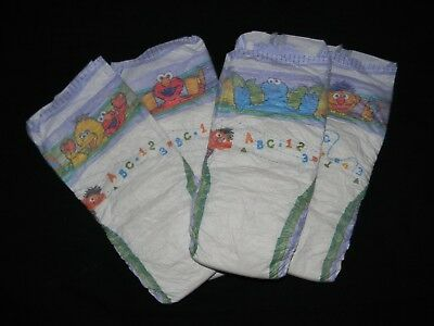4 Sample Vintage Pampers stages Cruiser size 7 over 41+Lbs