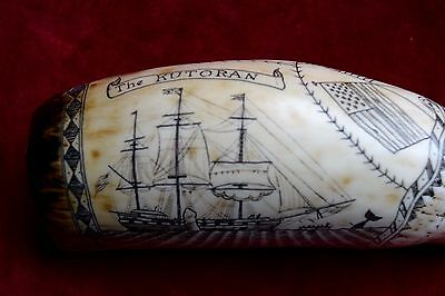 "fab-scrimshaw  ""The Kutoran""  superb. engraved by john Adams. SRP £24 ++++"