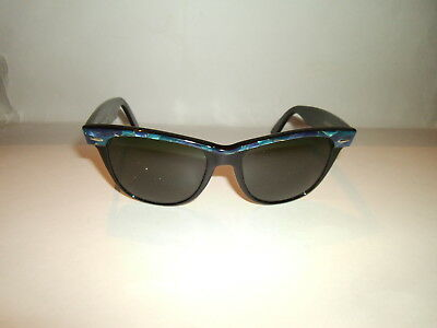 "Vintage Authentic ""Bausch & Lomb"" Ray-ban Wayfarer II G-15 Sunglasses Rare Blue!"
