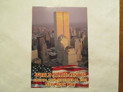 World Trade Center New York NY View 3 Continental Sized Postcard